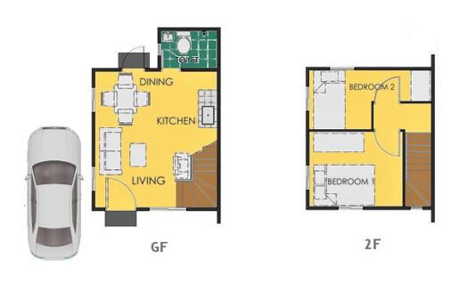 Reva Floor Plan House and Lot in Iloilo