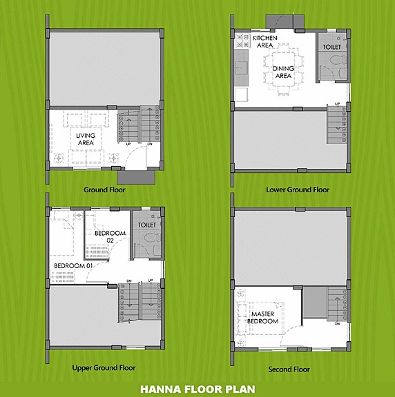 Hanna Floor Plan House and Lot in Iloilo