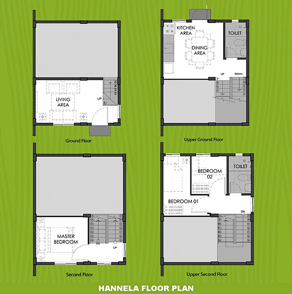 Hannela Floor Plan House and Lot in Iloilo
