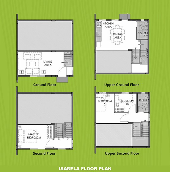 Isabela Floor Plan House and Lot in Iloilo