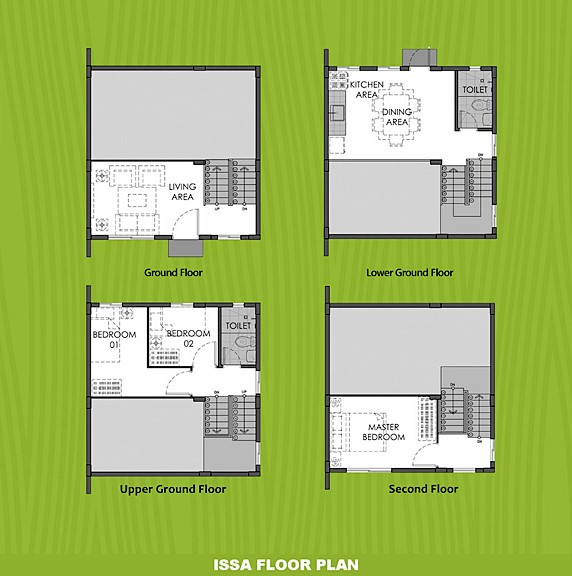 Issa Floor Plan House and Lot in Iloilo