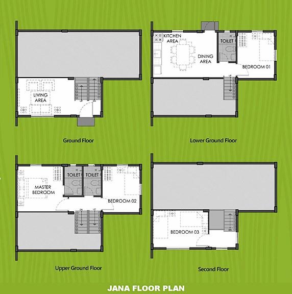 Janna Floor Plan House and Lot in Iloilo