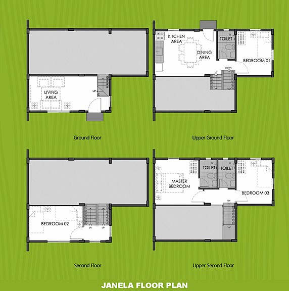 Janela Floor Plan House and Lot in Iloilo