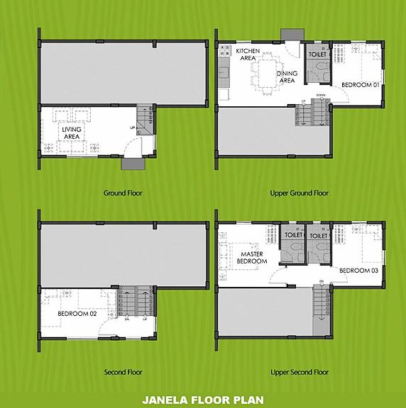 Janela Floor Plan House and Lot in Iloilo