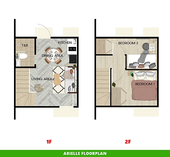 Arielle Floor Plan House and Lot in Iloilo