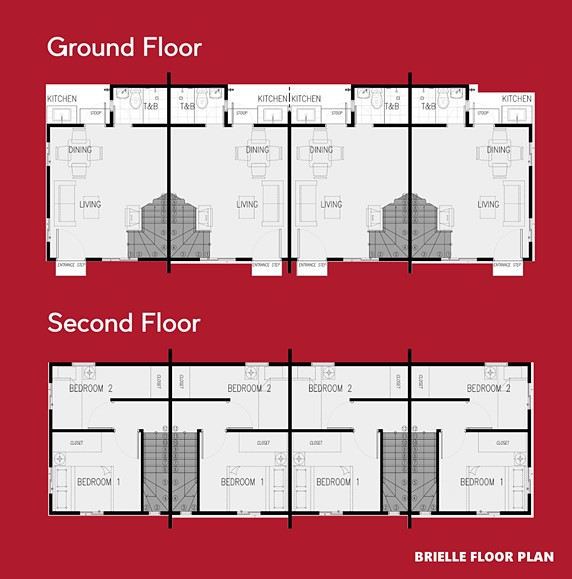Brielle Floor Plan House and Lot in Iloilo