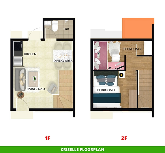 Criselle Floor Plan House and Lot in Iloilo