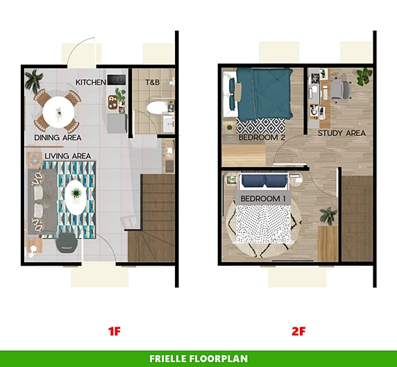 Frielle Floor Plan House and Lot in Iloilo